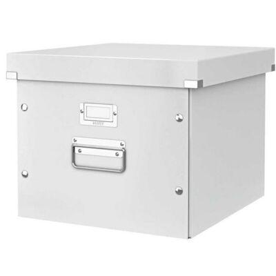 Irattároló doboz, függőmappának, lakkfényű, LEITZ Click&Store, fehér (E60460001)