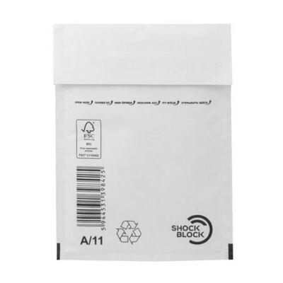 Légpárnás tasak, 125x175 mm külméret, 105x165 mm belméret, VICTORIA, W1, fehér (IBIL21)