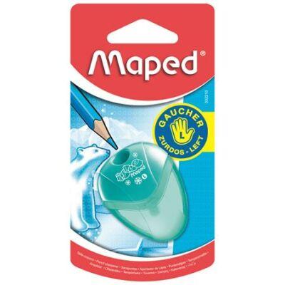 Hegyező, egylyukú, tartályos, balkezes, MAPED I-Gloo, vegyes színek (IMA032210)
