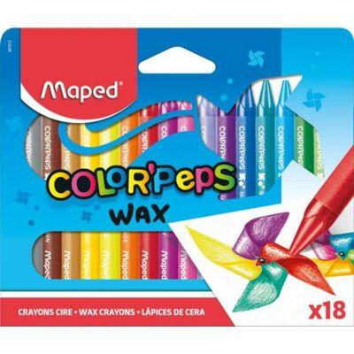 Zsírkréta, MAPED Color`Peps Wax, 18 különböző szín (IMA861012)