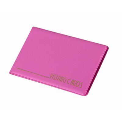 Névjegytartó, 24 db-os, PANTAPLAST, pasztell rózsaszín (INP304129PR)