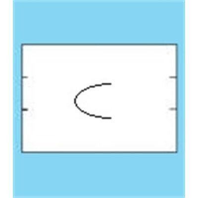 Árazógépszalag, 16x23 mm, U bevágásos, fehér (IS1623U)