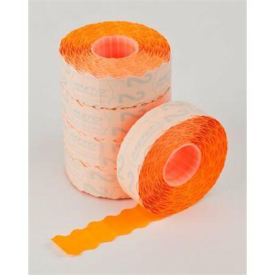 Árazógépszalag, 22x12 mm, METO, narancs (ISM22N)
