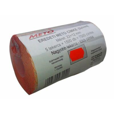 Árazógépszalag, 22x12 mm, METO, piros (ISM22P)