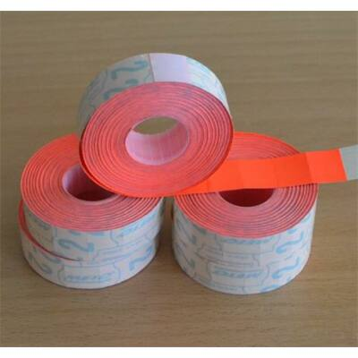 Árazógépszalag, 19x16 mm, METO, piros (ISMKP)