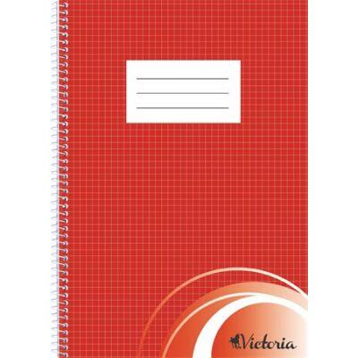 Spirálfüzet, A4, kockás, 70 lap, VICTORIA (ISVFS70K)