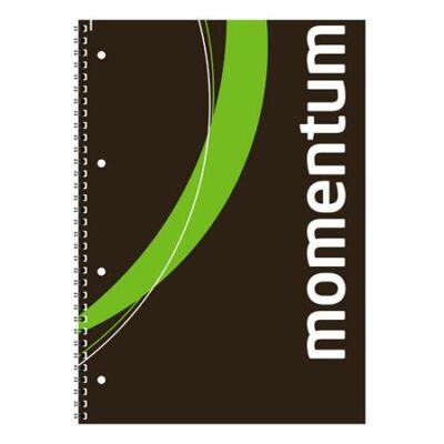 Spirálfüzet, A4, sima, 90 lap, perforált, lyukasztott, VICTORIA, Momentum (ISVFS90S)