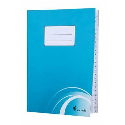 Mutató, A4, vonalas, 80 lap, regiszteres, puhafedeles, VICTORIA (ISVRA4)