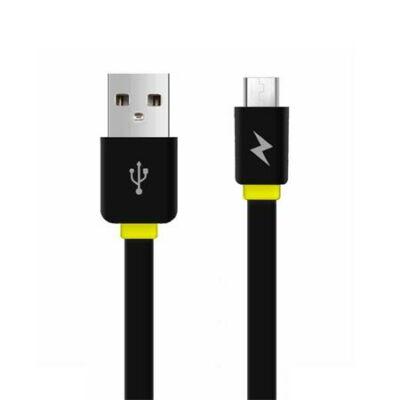 USB kábel, USB - micro USB, csavarodásmentes, 1 m, AWEI CL-950, fekete (KAWCL950B)