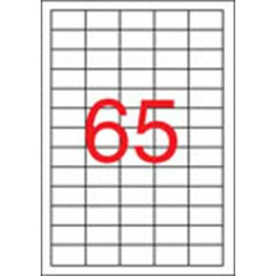 Etikett, univerzális, 38x21,2 mm, eltávolítható, APLI, 6500 etikett/csomag (LCA03052)