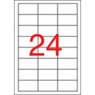 Etikett, univerzális, 64,6x33,8 mm, eltávolítható, APLI, 2400 etikett/csomag (LCA03056)