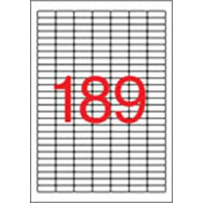 Etikett, univerzális, 25,4x10 mm, eltávolítható, kerekített sarkú, APLI, 4725 etikett/csomag (LCA10198)