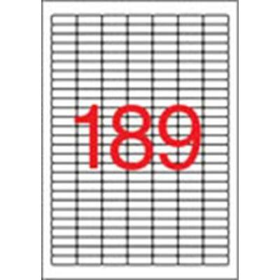 Etikett, univerzális, 25,4x10 mm, kerekített sarkú, APLI, 3780 etikett/csomag (LCA11706)