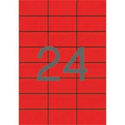 Etikett, 70x37 mm, színes, APLI, piros, 2400 etikett/csomag (LCA11836)