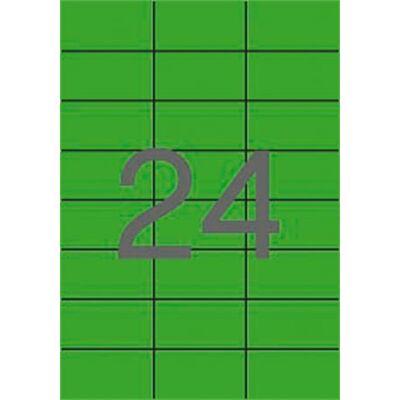 Etikett, 70x37 mm, színes, APLI, zöld, 2400 etikett/csomag (LCA11837)