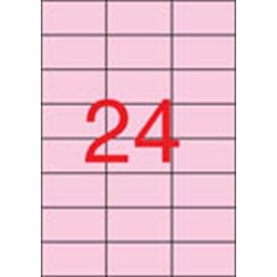 Etikett, 70x37 mm, színes, APLI, pasztell rózsaszín, 480 etikett/csomag (LCA11843)
