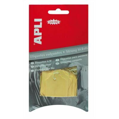 Árazócímke, 22x35 mm, APLI, sárga (LCA12931)