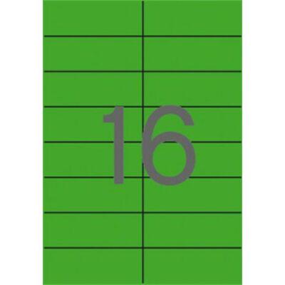 Etikett, 105x37 mm, színes, APLI, zöld 1600 etikett/csomag (LCA12979)