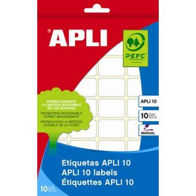 Etikett, 8x12 mm, kézzel írható, kerekített sarkú, APLI, 1200 etikett/csomag (LCA1632)