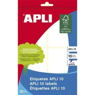 Etikett, 50x70 mm, kézzel írható, kerekített sarkú, APLI, 40 etikett/csomag (LCA1657)