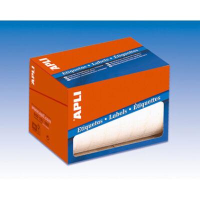 Etikett, 34x53 mm, kézzel írható, kerekített sarkú, tekercsben, APLI, 900 etikett/csomag (LCA1694)
