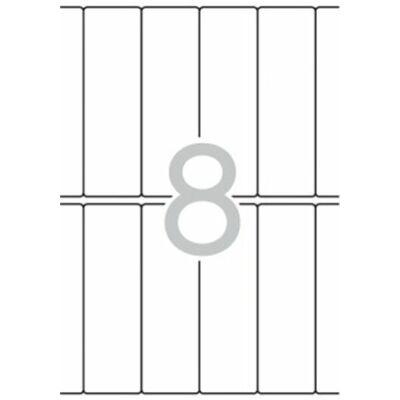 Etikett, 31x100 mm, kerekített sarkú, A5 hordozón, APLI, 120 etikett/csomag (LCA1873)