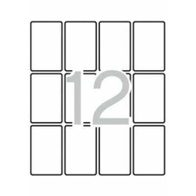 Etikett, 34x53 mm, kerekített sarkú, A5 hordozón, APLI, 180 etikett/csomag (LCA1874)