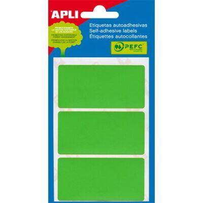 Etikett, 34x67 mm, kézzel írható, zöld, APLI, 15 etikett/csomag (LCA2074)