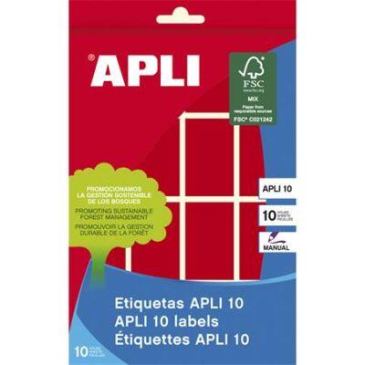 Etikett, 25x40 mm, kézzel írható, színes, kerekített sarkú, APLI, piros, 128 etikett/csomag (LCA2756)