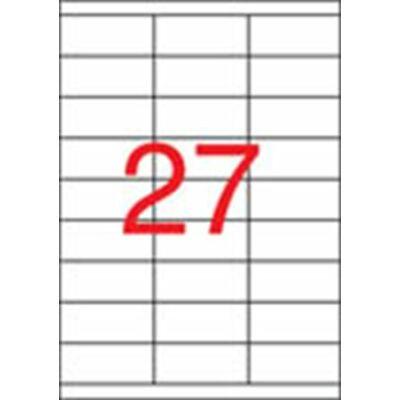 Etikett, univerzális, 70x30 mm, APLI, 2700 etikett/csomag (LCA3133)