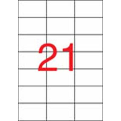 Etikett, univerzális, 70x42,4 mm, APLI, 2100 etikett/csomag (LCA3136)