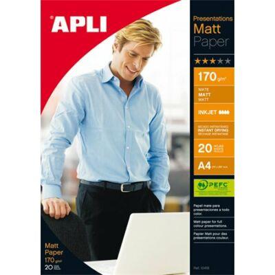 Fotópapír, tintasugaras, A4, 170 g, matt, kétoldalas, APLI Presentations (LEAA10418)