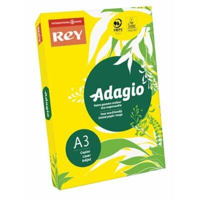 Másolópapír, színes, A3, 80 g, REY Adagio, intenzív sárga (LIPAD38IS)