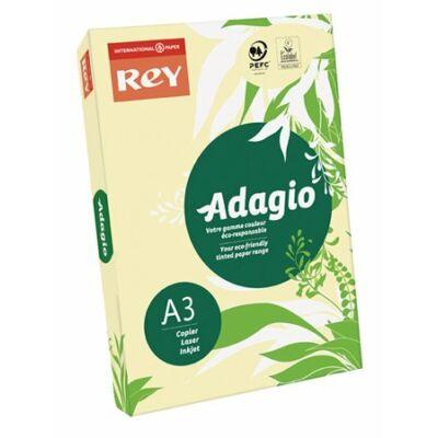 Másolópapír, színes, A3, 80 g, REY Adagio, pasztell sárga (LIPAD38PS)