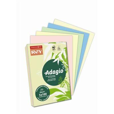 Másolópapír, színes, A4, 80 g, 5x100 lap, REY Adagio, pasztell mix (LIPAD48PX)
