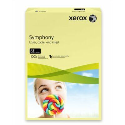 Másolópapír, színes, A3, 80 g, XEROX Symphony, világossárga (pasztell) (LX91957)
