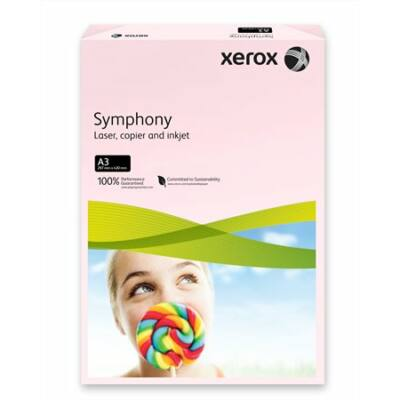 Másolópapír, színes, A3, 80 g, XEROX Symphony, rózsaszín (pasztell) (LX92261)