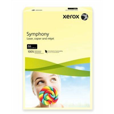 Másolópapír, színes, A4, 160 g, XEROX Symphony, világossárga (pasztell) (LX93231)