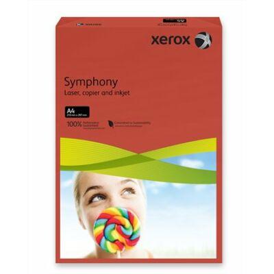 Másolópapír, színes, A4, 160 g, XEROX Symphony, sötétpiros (intenzív) (LX94278)
