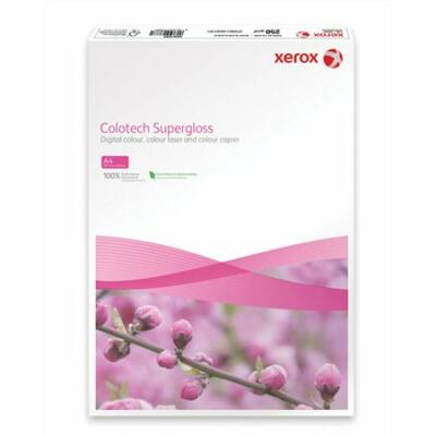 Másolópapír, digitális, A4, 160 g, bevonatos, magasfényű, XEROX Colotech Supergloss (LX97680)