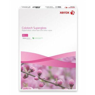 Másolópapír, digitális, A4, 250 g, bevonatos, magasfényű, XEROX Colotech Supergloss (LX97686)