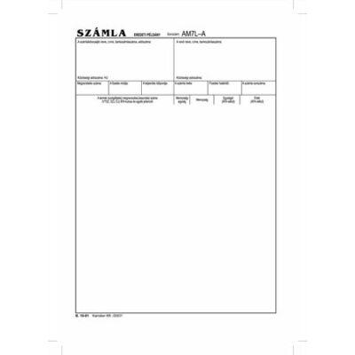 Nyomtatvány, *számlagarnitúra, 5 példány, A4, VICTORIA, B.10-01 (NVB1001)