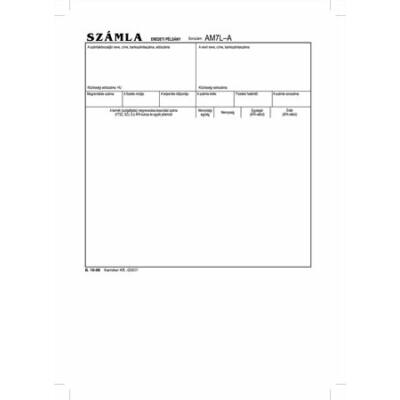 Nyomtatvány, *számlagarnitúra, 5 példány, A5, VICTORIA, B.10-06 (NVB1006)