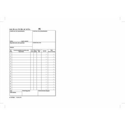 Nyomtatvány, szállítólevél, 50x3, A5, VICTORIA B.10-70 (NVB1070503A5)