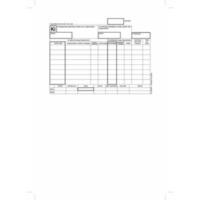 Nyomtatvány, készletkivételezési bizonylat, 25x4, A5, VICTORIA B.12-114 (NVB12114)