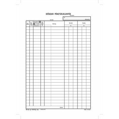 Nyomtatvány, időszaki pénztárjelentés, 25x4, A4, VICTORIA B.13-21 (NVB1321V)