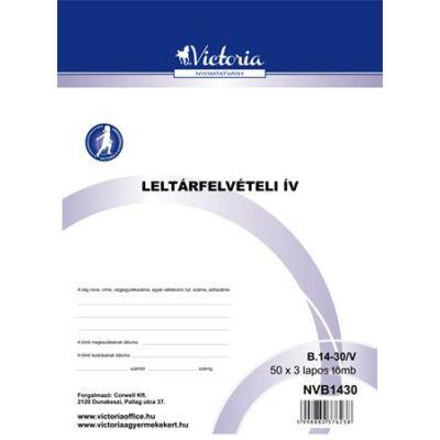 Nyomtatvány, leltárfelvételi ív, 50x3, A4, VICTORIA, B.14-30 (NVB1430)