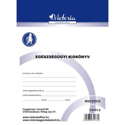 Nyomtatvány, egészségügyi kiskönyv, A6, VICTORIA C.3151-2 (NVC31512)