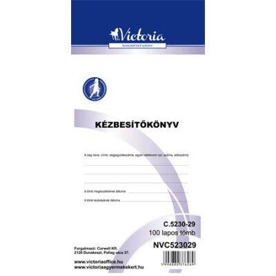 Nyomtatvány, kézbesítőkönyv, 100 lap, VICTORIA, C.5230-29, 10 tömb/csomag (NVC523029)