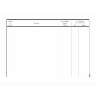 Nyomtatvány, emelőgépnapló, 25 lap, A5, VICTORIA (NVKO748)